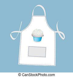 delantal, cupcake