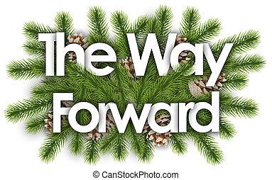 delantero, branchs, pino, -, manera, navidad, plano de fondo