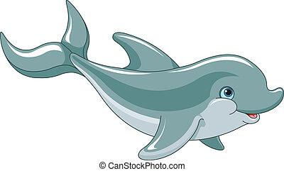 Delfines nadadores