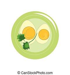 Delicioso vector de huevos o ilustración de color