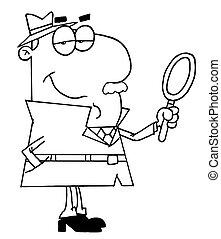 Delineado detective masculino