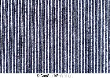 Denim azul oscuro con rayas blancas fondo de tela