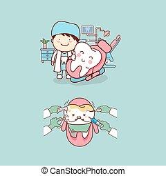 Dentista con diente