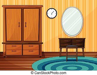 dentro, habitación