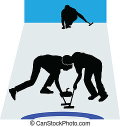 deporte, curling