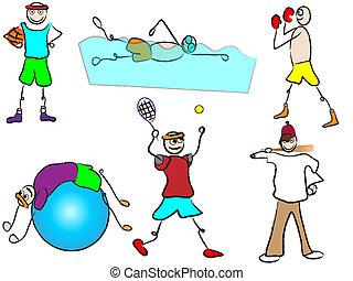 Deporte y recreación de cartón