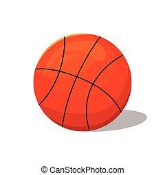deportes, equipment., baloncesto, ilustración, vector, ball.