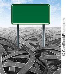 Desafíos y obstáculos con señales de carretera en blanco