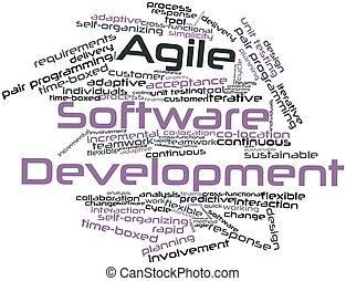 desarrollo, ágil, software