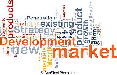 desarrollo, concepto, mercado, plano de fondo