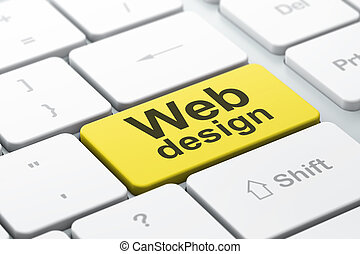 desarrollo, tela, palabra, render, teclado, botón, seleccionado, foco, plano de fondo, entrar, seo, computadora, diseño, concept:, 3d