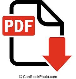 Descarga el botón de archivo PDF