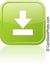 Descarga el botón verde