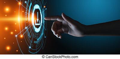 Descarga el concepto de la red de internet de almacenamiento de datos