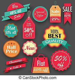 descuento, venta, etiquetas