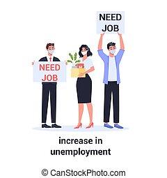 desempleado, hombre, personas., cantidad, aumentar, mujer