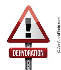 deshidratación, diseño, camino, ilustración, señal
