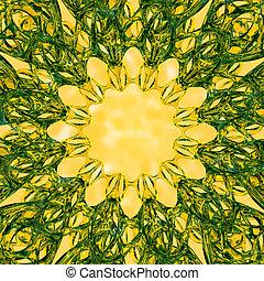 design., floral, decorativo, vidrio, ornamento, fondo., resumen