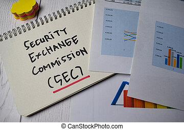 desk., concepto, escribir, seguridades, comisión, libro, (sec), aislado, intercambio, mercado, acción, oficina