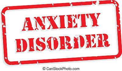 Desorden de ansiedad sello de goma