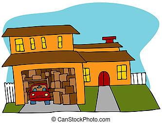 desordenar, garaje