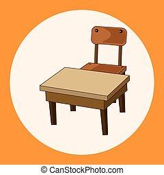 Despacho de clase y silla vector de elementos temáticos,eps