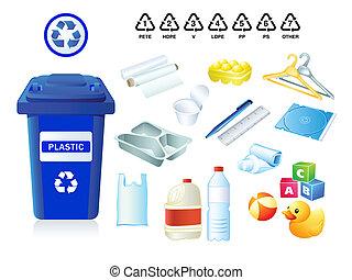 desperdicio, basura, plástico