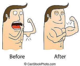 después, antes