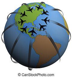 Destino de viaje en línea aérea: EE.UU. Oriental