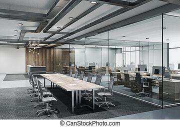 desván, contemporáneo, sala de conferencias