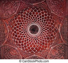 Detalle de decoración del taj mahal