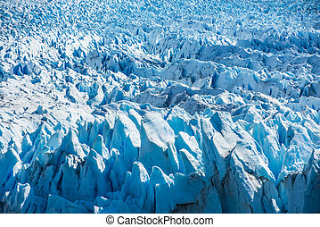 Detalle de Perito Moreno glaciar en Argentina