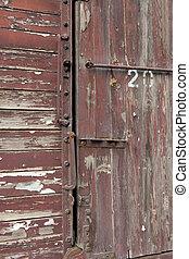 Detalle de un viejo vagón de tren