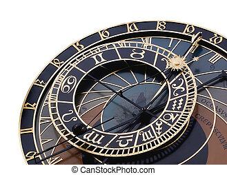 Detalle del reloj astronómico