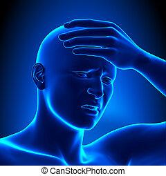 detalle, dolor de cabeza
