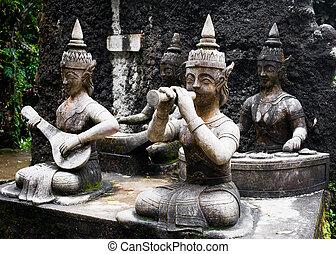 Detalles de arquitectura de Buda mágico