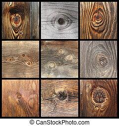Detalles de nudos de madera