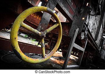 Detalles de vagón oxidado