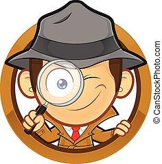 Detective con forma de círculo