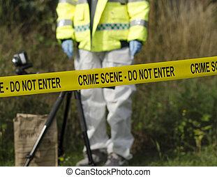 Detective de escena del crimen