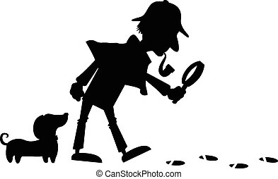 detective, silueta