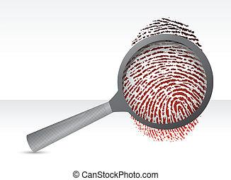 Detectives magníficos con huellas dactilares