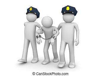 Detenido forajido, recolección legal