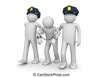 detenido, proscrito, -, legal, colección
