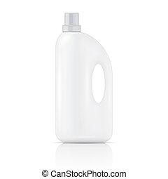 detergente, blanco, lavadero, líquido, bottle.