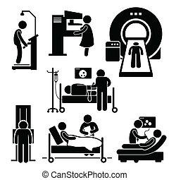 Diagnóstico médico del hospital