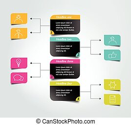 Diagrama de flujo, esquema. Elemento infográfico.