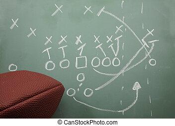 diagrama, fútbol, barrer