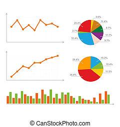 diagrama, gráficos, estadística, pastel