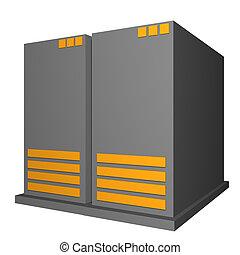 diagrama, objeto, presentación, servidor